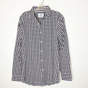 Mizzen + Main Checkered Long Sleeve Dress Shirt M